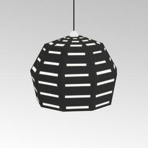 Kartonowa lampa Uno Fantasia D Black, z czarnym kablem