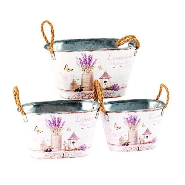 Zestaw 3 doniczek Lavender