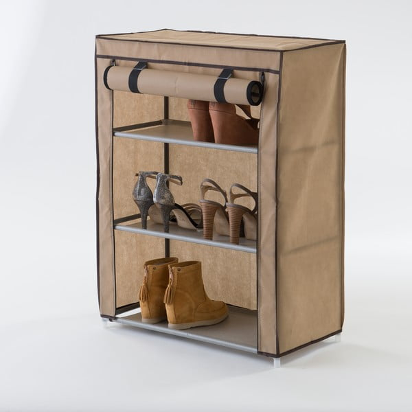 Beżowa tekstylna szafka na buty Compactor Shoes