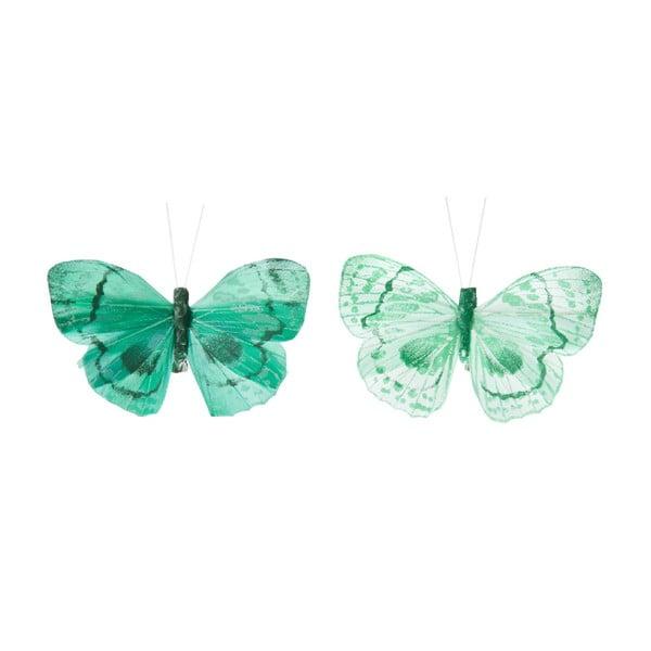 Zestaw dekoracyjnych motyli Blue Mix, 24 ks