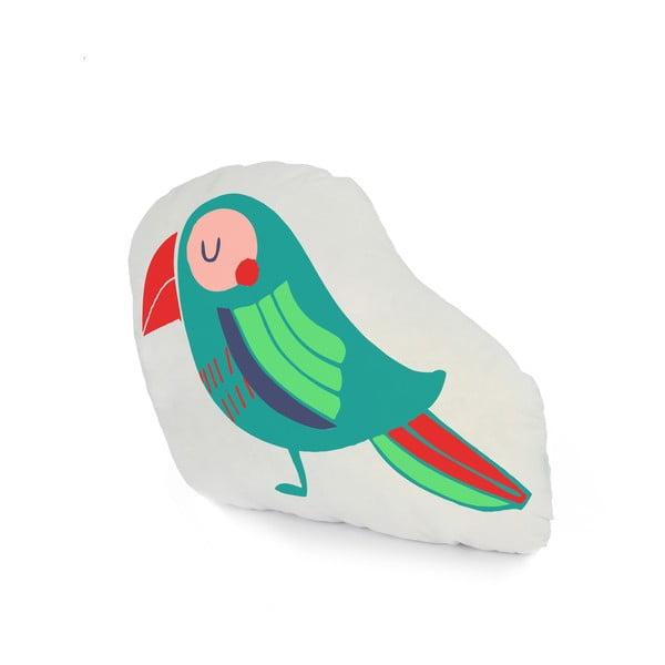 Poduszka bawełniana Moshi Moshi Pretty Parrots, 40 x 30 cm