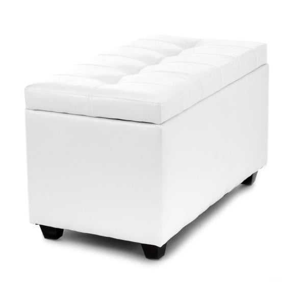 Biała ławka ze schowkiem Tomasucci Nice