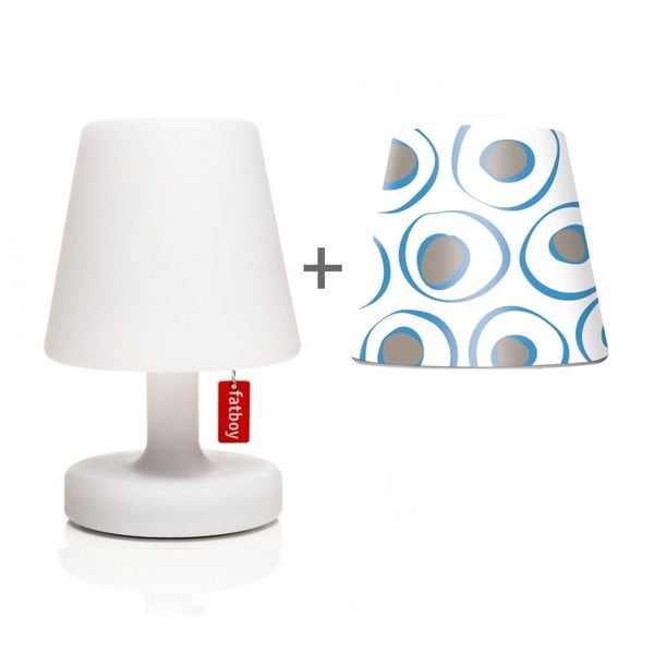 Lampa Fatboy Edison Petit, 25 cm + klosz Mr. Blue