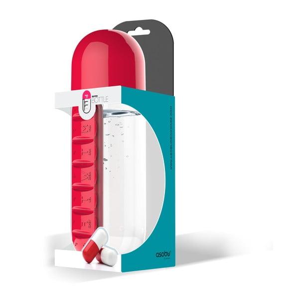 Butelka z pojemnikiem na leki In Style Red
