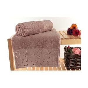 Zestaw 2 ręczników Tomur Dusty Rose, 90x150 cm