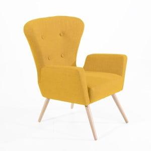 Żółty fotel Max Winzer Maurizio