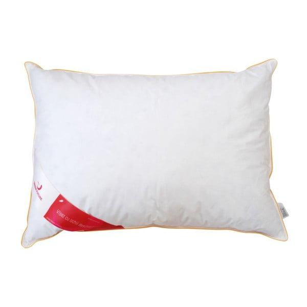 Biała poduszka z gęsim puchem Green Future Feeling, 70x70 cm