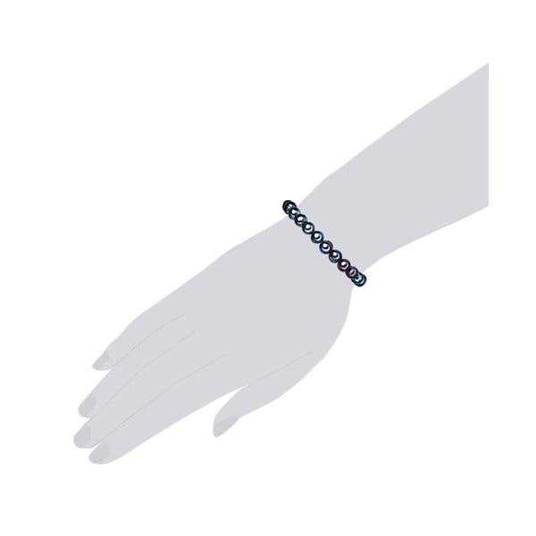Niebieska perłowa bransoletka Chakra Pearls, 17 cm