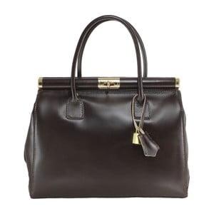 Ciemnobrązowa skórzana torba Camilla