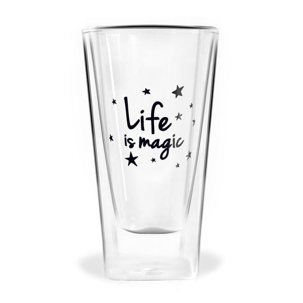 Szklanka z podwójną ścianką Vialli Design Life Is Magic, 300 ml