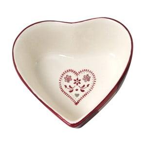 Ceramiczna misa Antic Line Heart Shape