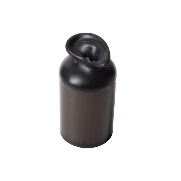 Pojemnik na patyczki kosmetyczne Ear Container, czarny