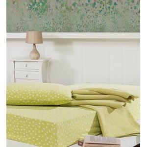 Narzuta z prześcieradłem i poszewką na poduszkę Sport Green, 160x230 cm