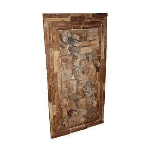 Dekoracja ścienna z drewna tekowego HSM Collection Rustic, 110 cm