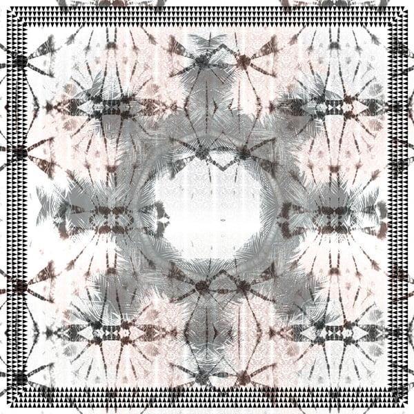 Chusta jedwabna Lali Green, 130x130 cm