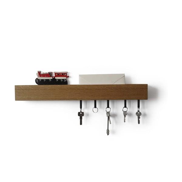 Półka z wieszakami na klucze Rail Chiaro, 70 cm