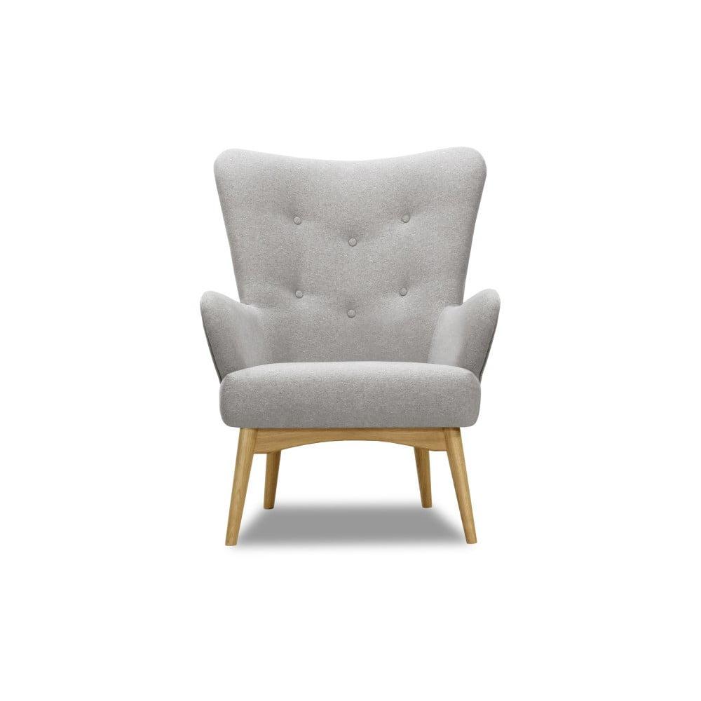 Jasnoszary fotel Vivonita Uma