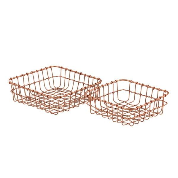 Zestaw 2 koszyków Cosmopolitan Copper