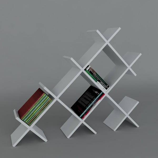 Biblioteczka Discuss Book White, 22x118,1x94,5 cm