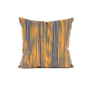 Żółta poduszka wzorzysta z wypełnieniem Present Time Oblique