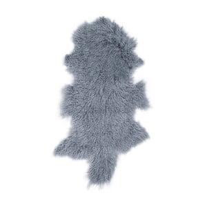 Granatowa skóra owcza z długim włosiem Hyggur, 85x50cm