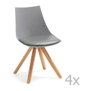 Zestaw 4 szarych krzeseł La Forma Armony