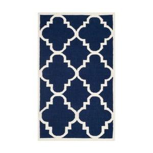 Niebieski dywan wełniany Safavieh Alameda, 91x152cm
