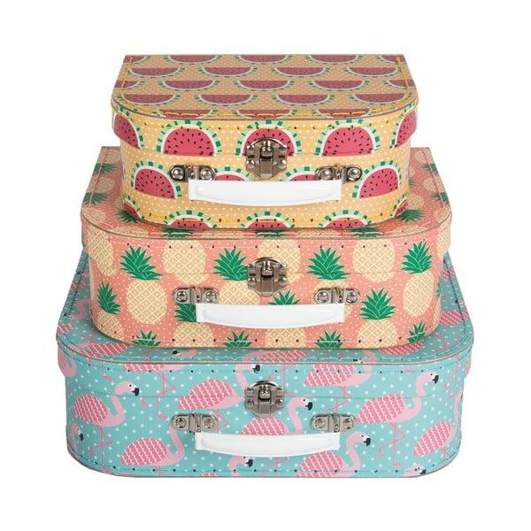 Zestaw 3 walizek Sass & Belle Tropical Summer