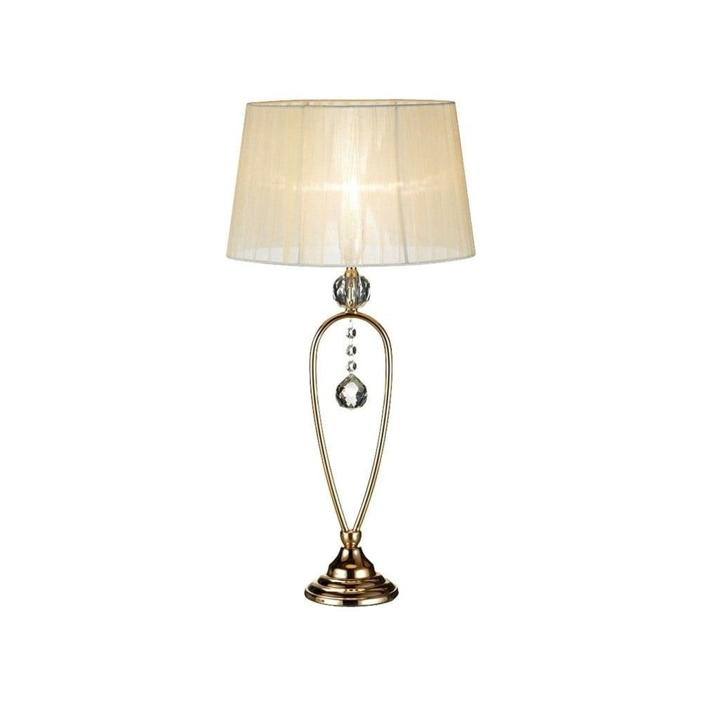 Kremowa lampa stołowa Markslöjd Christinehof