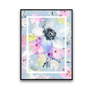 Plakat z niebieskimi kwiatami, 30 x 40 cm