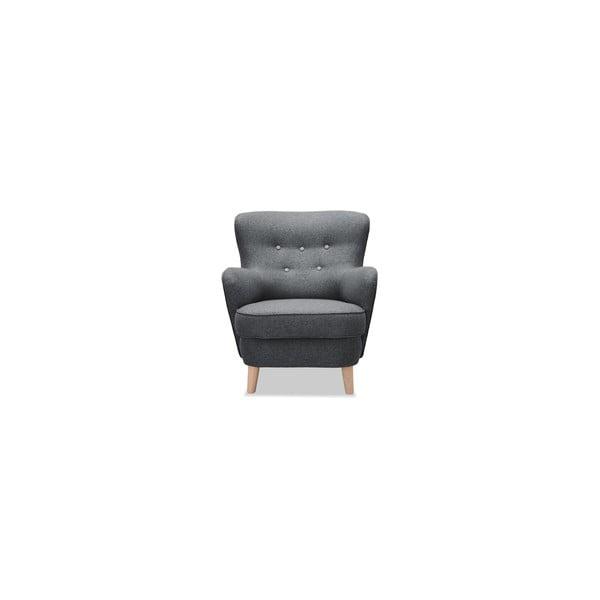 Antracytowy fotel Vivonita Eden