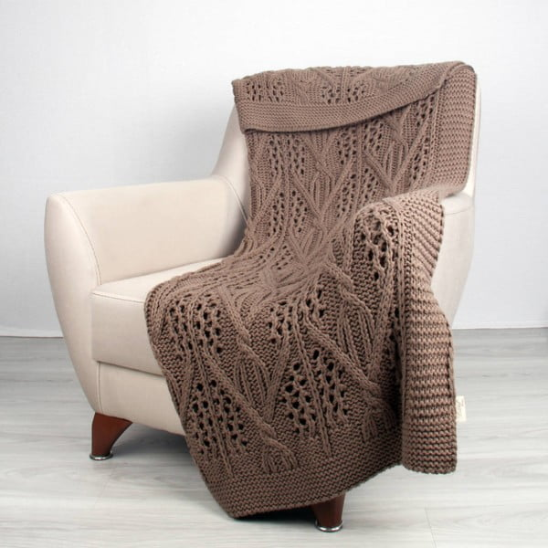 Brązowy koc Homemania Tuti, 170x130 cm