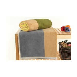 Zestaw 2 ręczników Felix Mustard, 70x140 cm