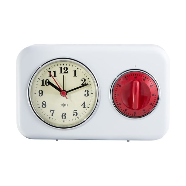 Zegarek kuchenny z minutnikiem White Vintage