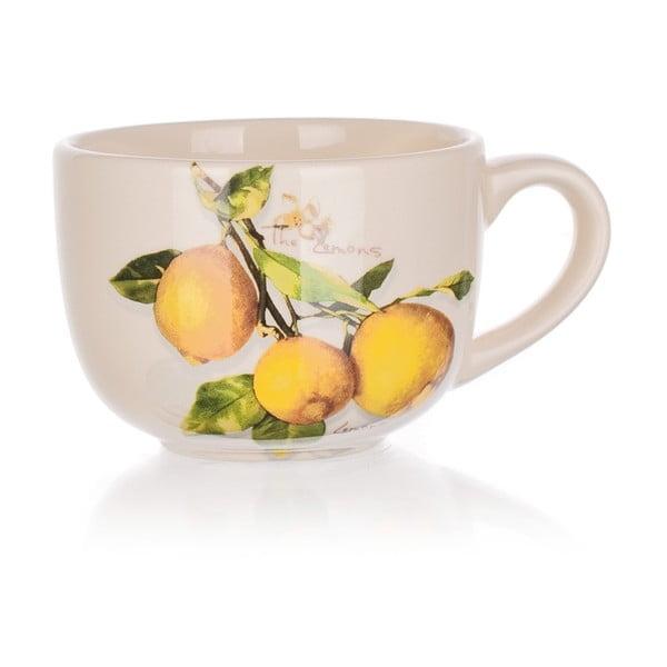 Ceramiczna filiżanka Banquet Lemon, 300 ml