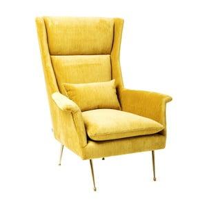 Żółty fotel Kare Design Vegas