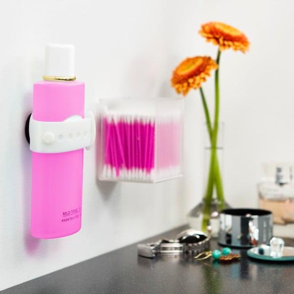 Biały magnetyczny uchwyt na szampon lub żel pod prysznic Reenbergs