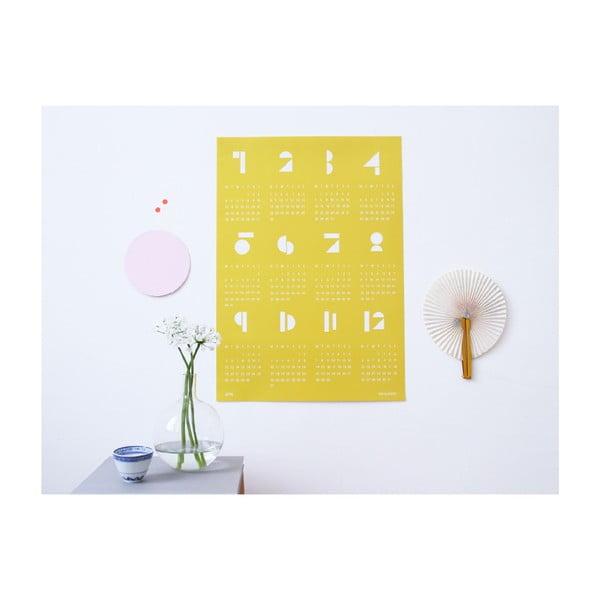 Kalendarz ścienny SNUG.Toy 2016, żółty