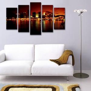 Pięcioczęściowy obraz Miasto o Wschodzie Słońca