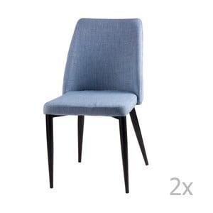Zestaw 2 jasnoniebieskich krzeseł sømcasa Melissa