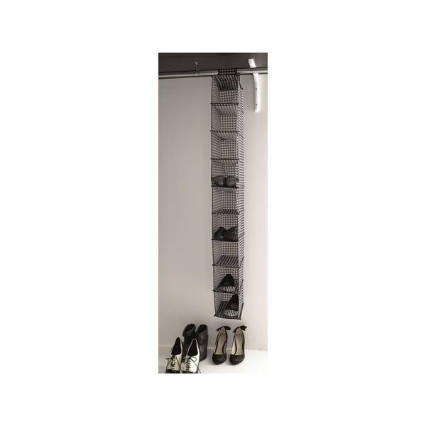 Materiałowy zawieszany organizer na buty z 9 przegródkami Compactor Rack