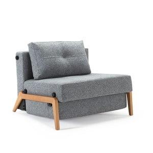 Szary fotel rozkładany Innovation Cubed
