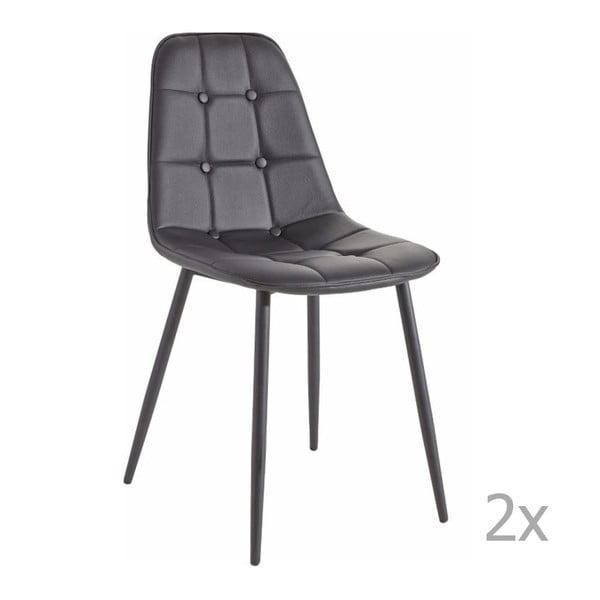 Zestaw 2 czarnych krzeseł 13Casa Dakota