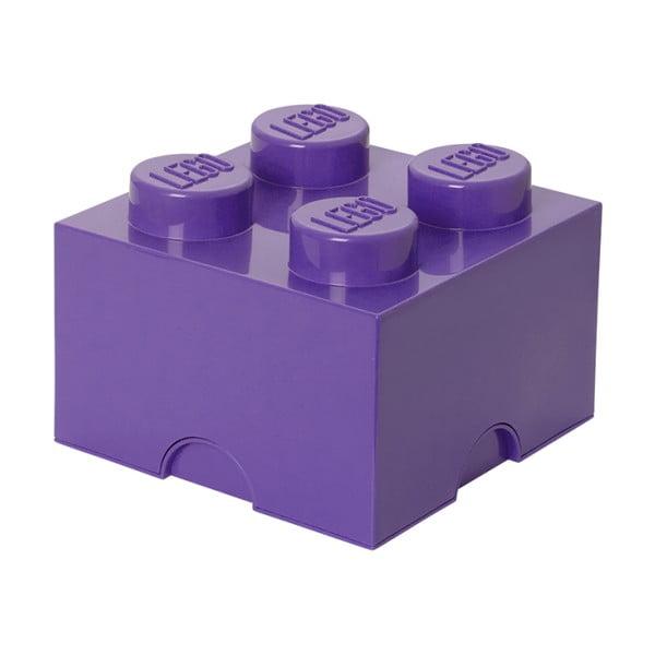Fioletowy pojemnik kwadratowy LEGO®
