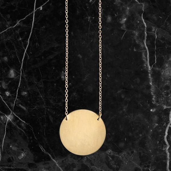 Naszyjnik Disk Gold z kolekcji Geometry