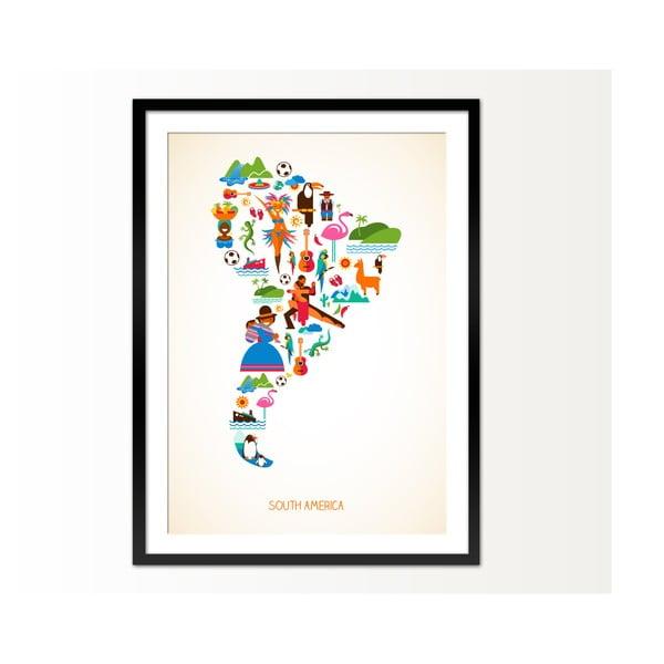 Oprawiony obraz South America, 50x70 cm