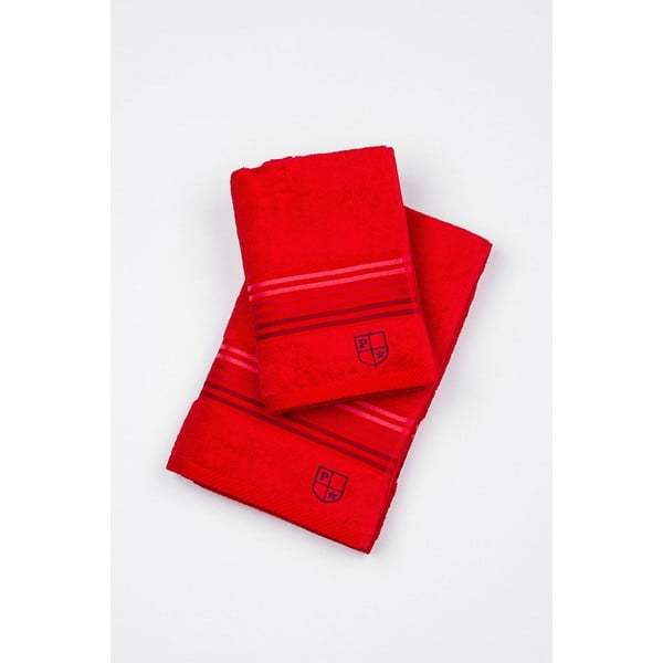 Komplet 2 ręczników U.S. Polo Assn. Red, 50x100 a 70x140 cm