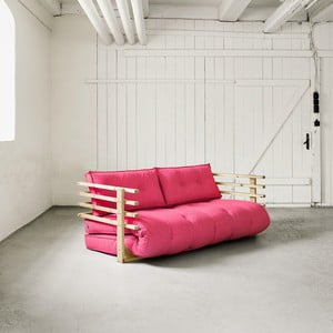 Sofa rozkładana dwuosobowa Karup Funk Natural/Magenta
