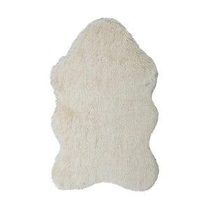 Kremowy dywan ze skóry ekologicznej Floorist Soft Bear, 160x200 cm