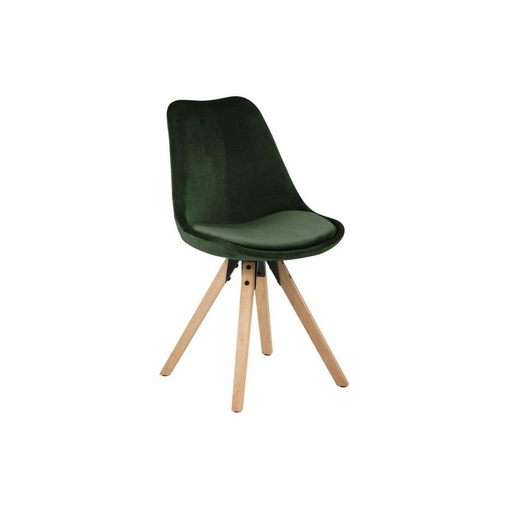 Zestaw 2 ciemnozielonych krzeseł Actona Dima Velvet